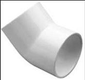 "Elbow, 2"" 45 Degree, PVC, Sch 40"