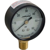 "Pressure Gauge (1/4"") Bottom /Side Mount (0-60 Psi) Plastic"
