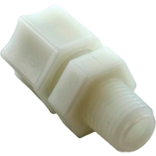 "Compression Fitting, UltraPure, 1/4"" MPT x 3/8"" tube, 3403410"